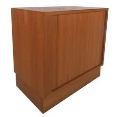 Tambour Door Danish Cabinet
