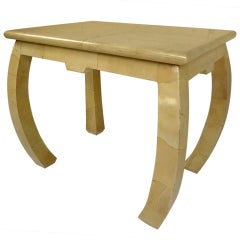 Goatskin Covered Side Table
