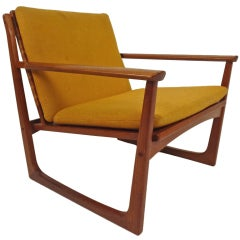 Hans Olsen Teak & Cane Lounge Chair