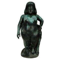 Vintage Modern Nude Bronze Statue
