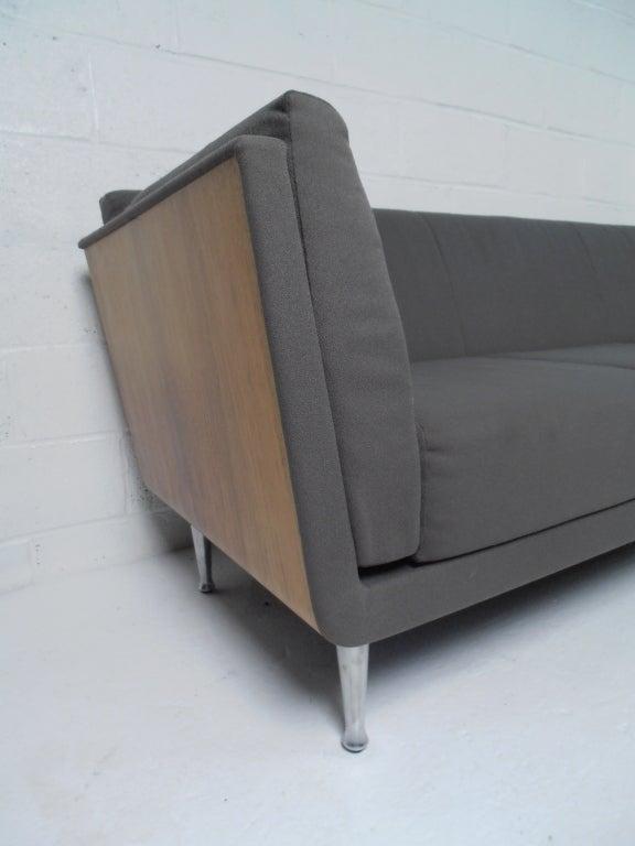 Molded Veneer Upholstered Sofa By Mark Goetz For Herman Miller