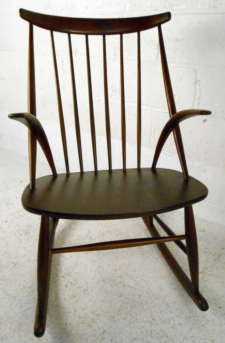 Mid-Century Modern Illum Wikkelso Rocking Chair For Sale