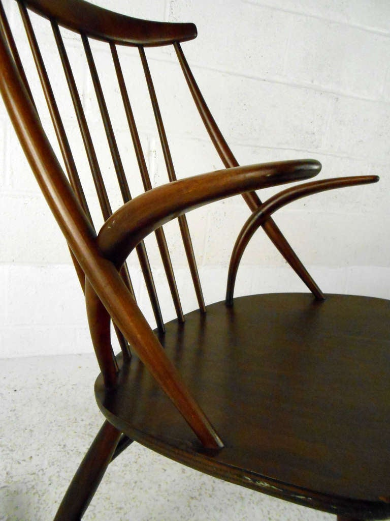Danish Illum Wikkelso Rocking Chair For Sale