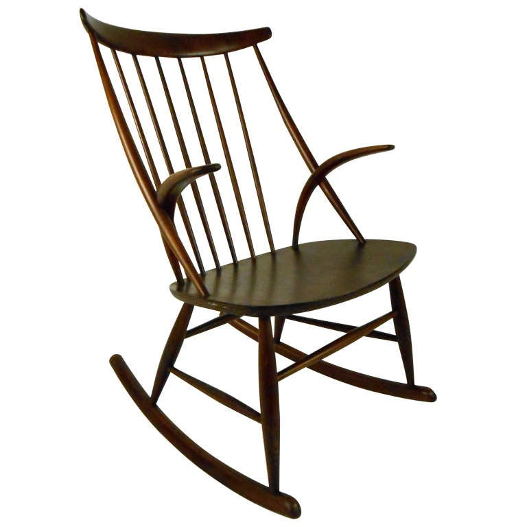Illum Wikkelso Rocking Chair For Sale