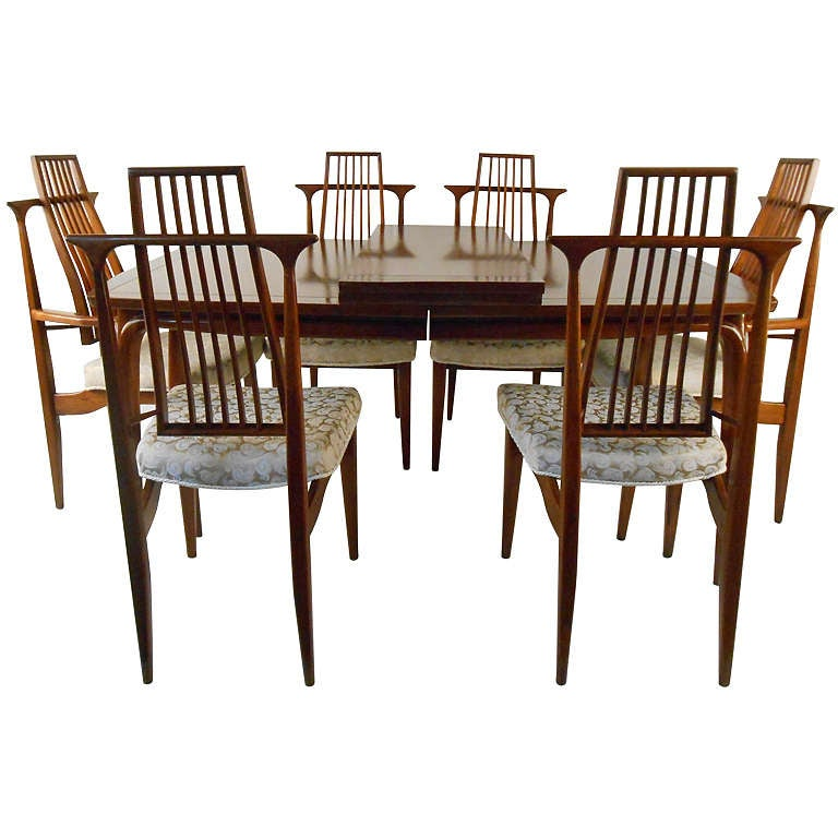 Highly sculpted mid century american dining set for sale for American furniture dinette sets