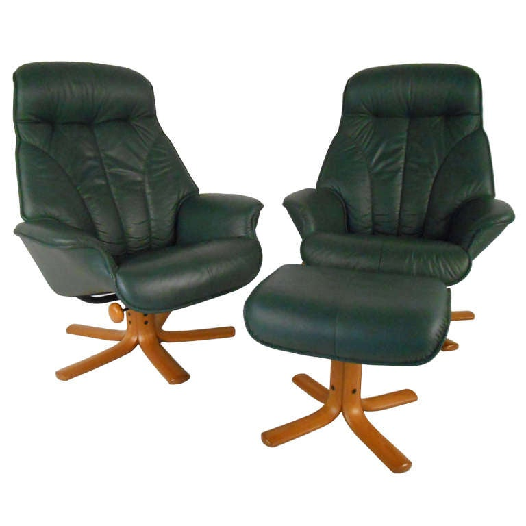 Groovy Pair Of Danish Recliners By Hjellegjerde Mobler At 1Stdibs Ocoug Best Dining Table And Chair Ideas Images Ocougorg