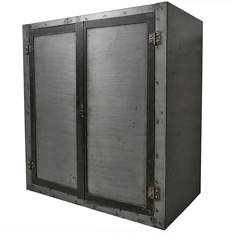Industrial Two Door Cabinet For Sale At 1stdibs