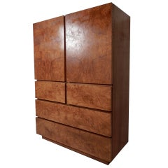 Large Burl Wood Cabinet