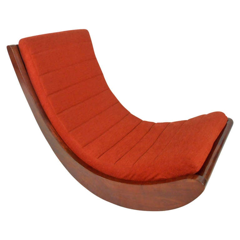 verner panton attributed rocking chair relaxer at 1stdibs