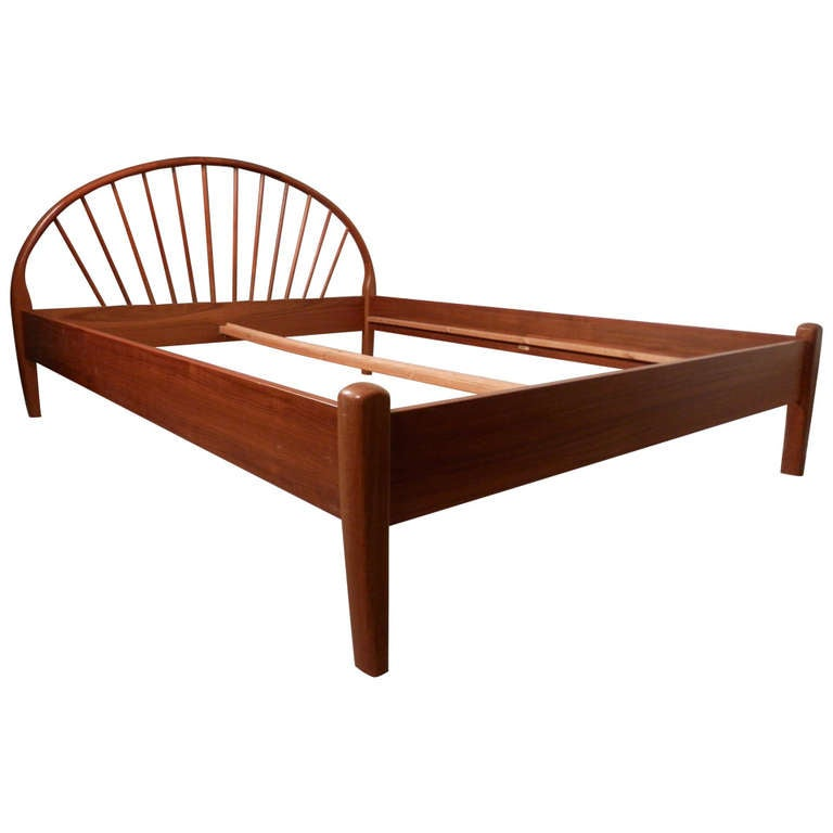 Danish mid century queen bed frame by jespersen at 1stdibs for Bed frame and dresser set