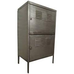 Industrial Metal Two-Door Cabinet