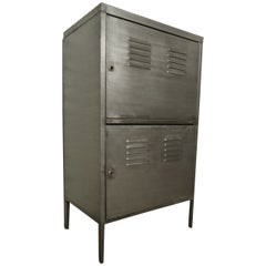 Industrial Metal Two-Door Cabinet