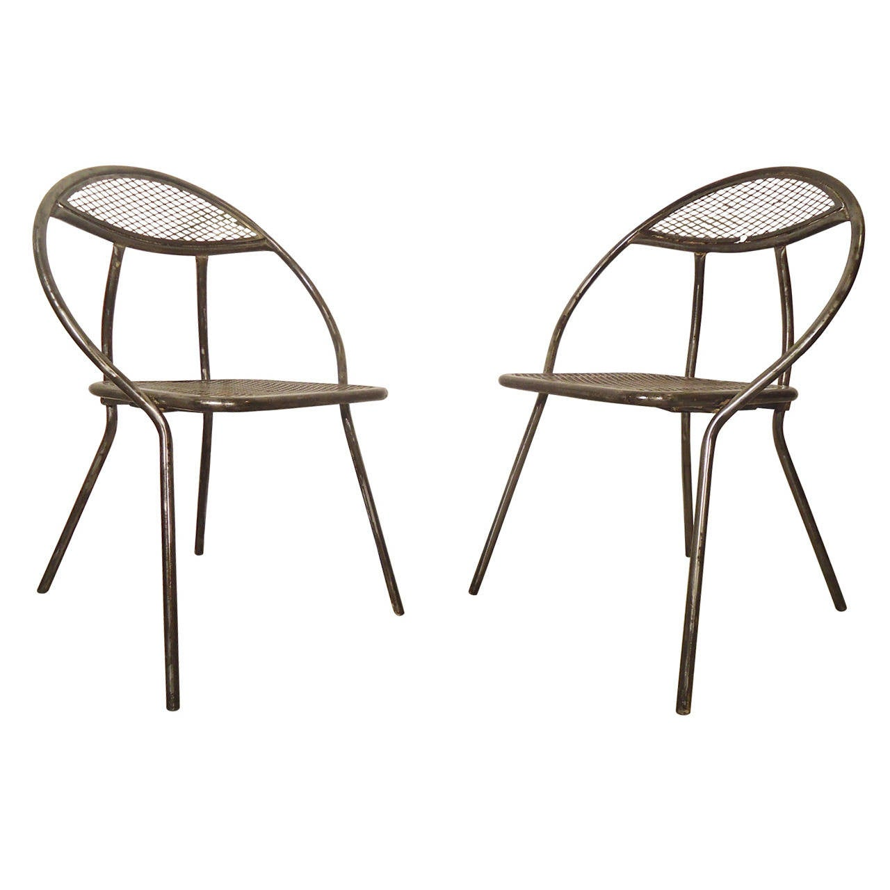 mid century metal patio chairs by rid jid