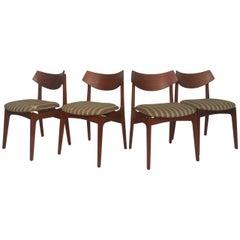 Set of Vintage Modern Teak Dining Chairs