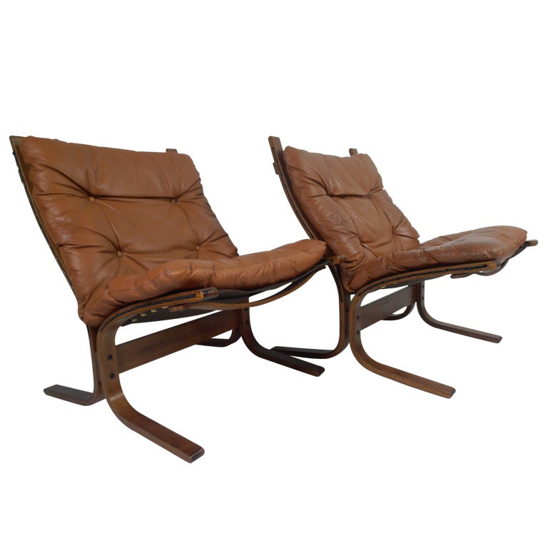 Ingmar Relling For Westnofa Siesta Leather Chairs At 1stdibs