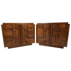 Brutalist Nightstands by Lane Furniture Co.