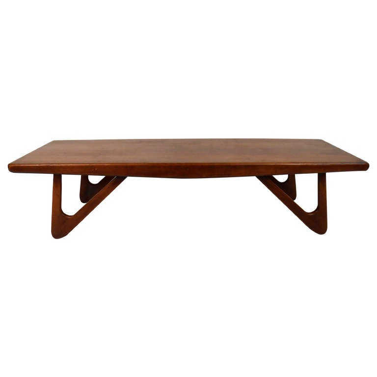 Boomerang Leg Coffee Table By Adrian Pearsall For Sale