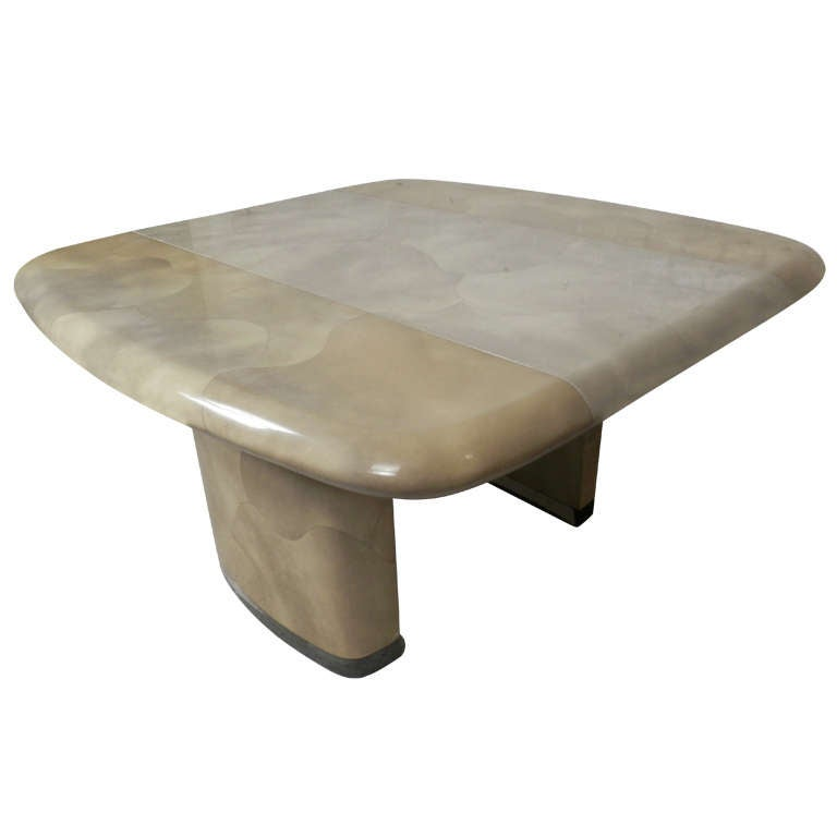 Karl Springer Style Expandable Dining Table