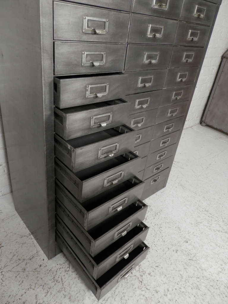 Mid 20th Century Cole Steel Industrial Metal File Cabinet For Sale