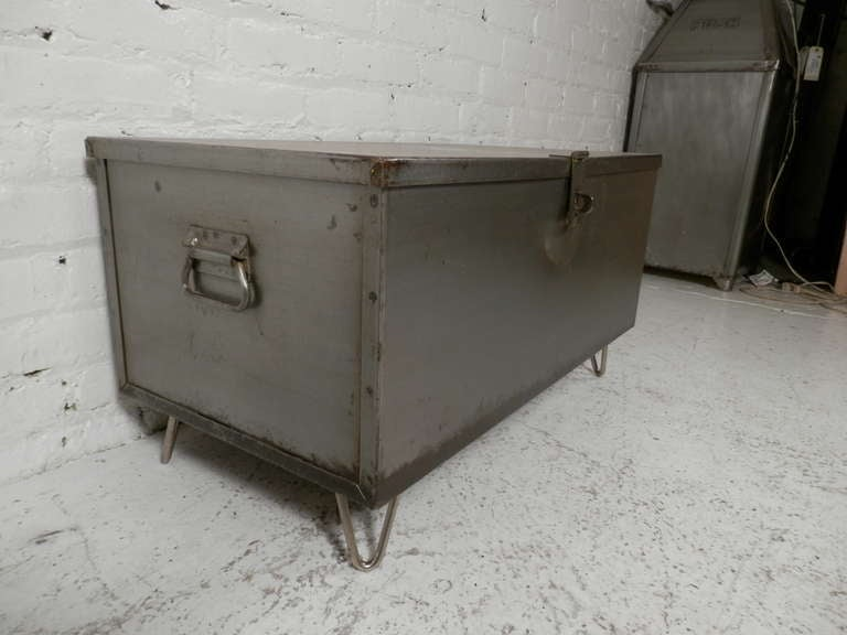 Refurbished Metal Trunk Coffee Table at 1stdibs