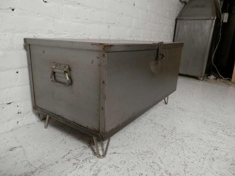 refurbished metal trunk coffee table at 1stdibs