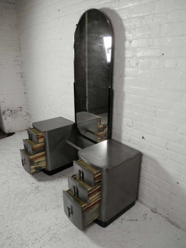simmons metal furniture. Double Pedestal Mid-Century Modern Metal Vanity With Mirror By Simmons For Sale 1 Furniture S
