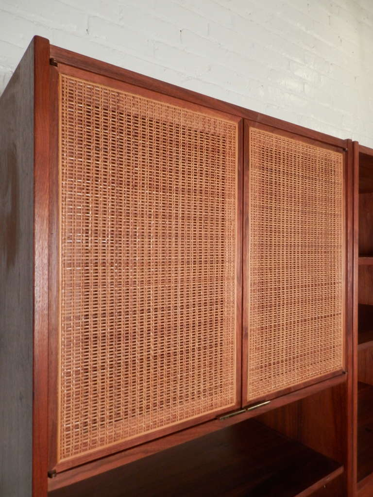 3 Pieces Wall Decor For Living Room: Outstanding Three Piece Wall Unit By Founders At 1stdibs