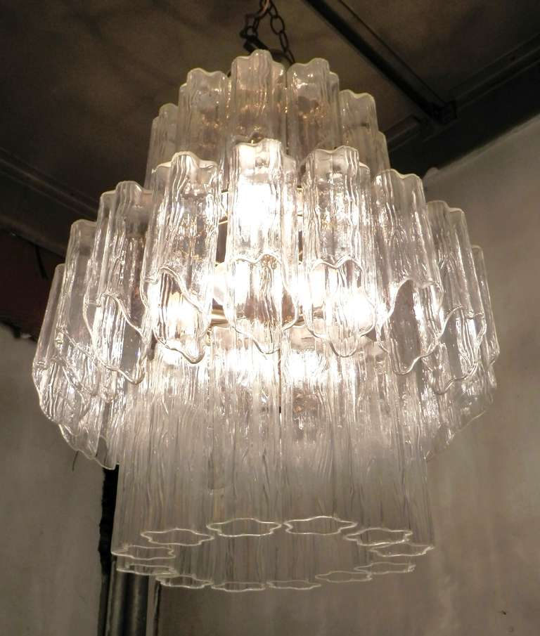 Amazing Italian Chandelier By Venini At 1stdibs