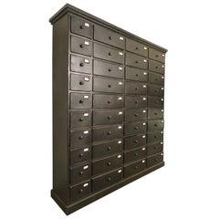 Vintage Industrial File Card Cabinet
