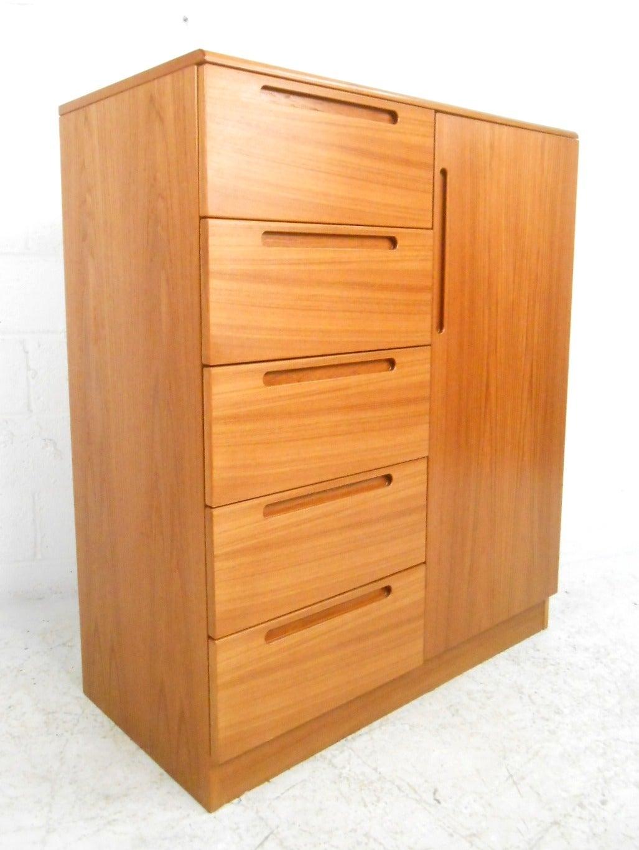 beautiful midcentury modern danish teak chest 2