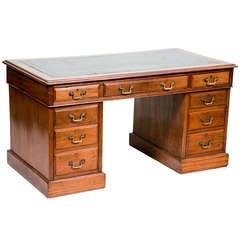 Edwardian English Pedestal Desk