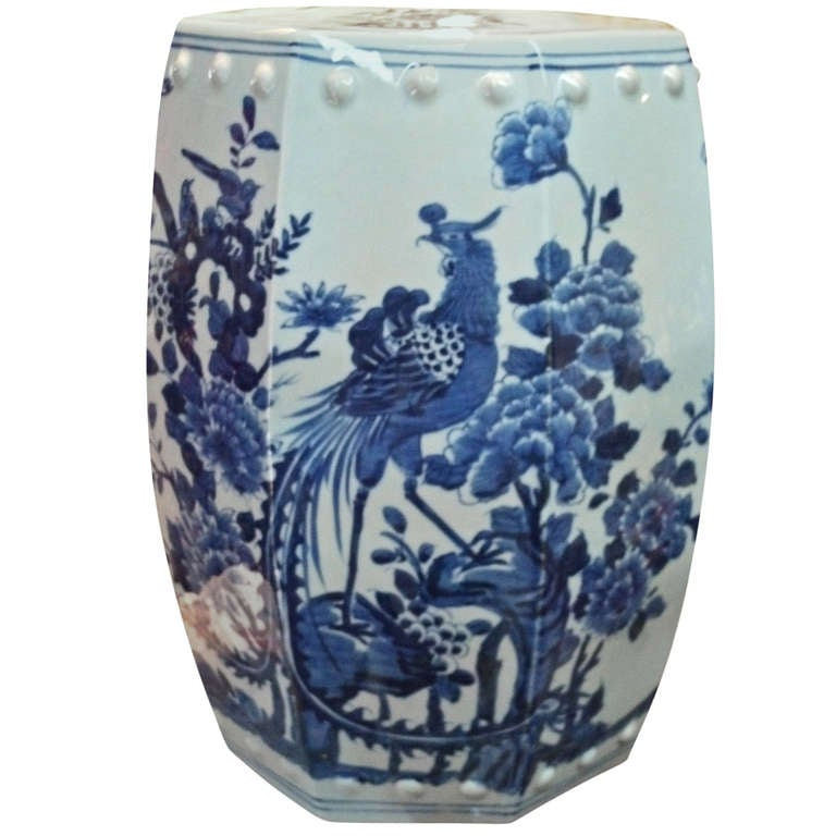 Blue And White Chinese Oriental Porcelain Ceramic Garden
