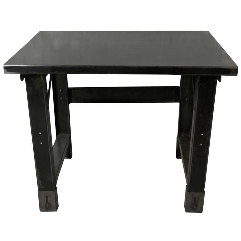 industrial metal small table at 1stdibs. Black Bedroom Furniture Sets. Home Design Ideas