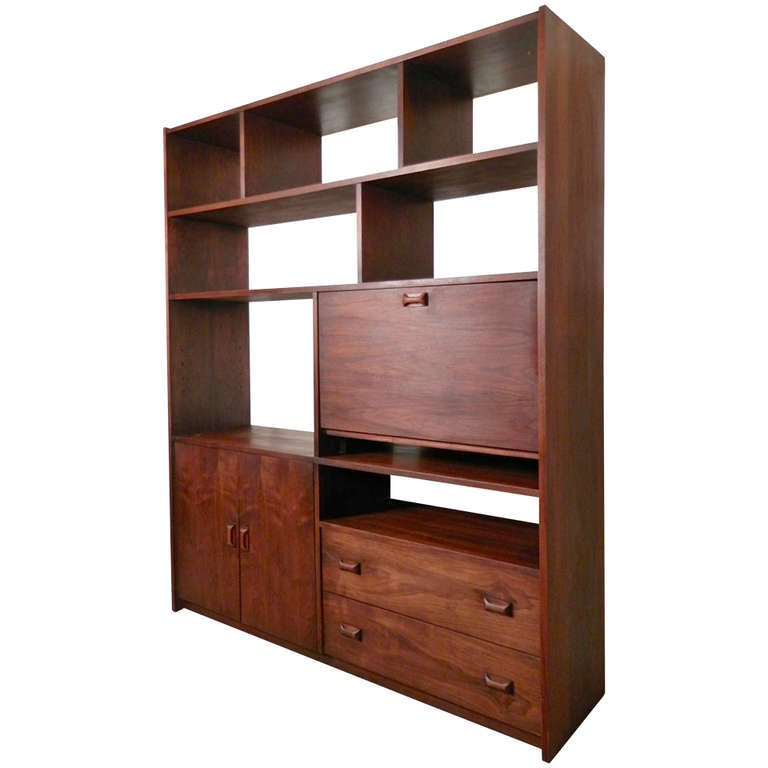 Danish Modern Style Wall Unit / Room Divider For Sale