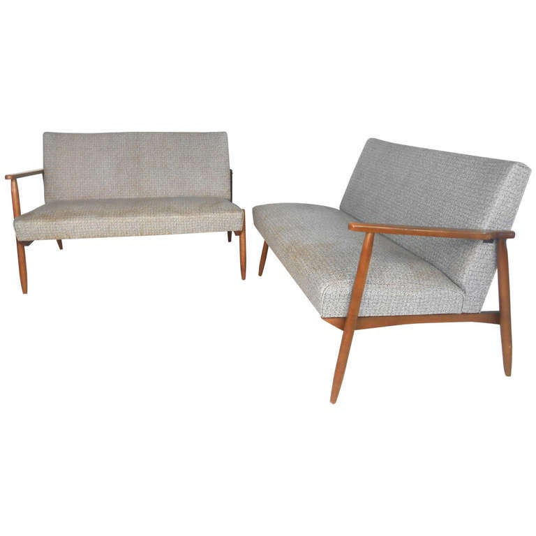 Unusual Sofas For Sale: Unique Mid-Century Vinyl Sectional Sofa For Sale At 1stdibs