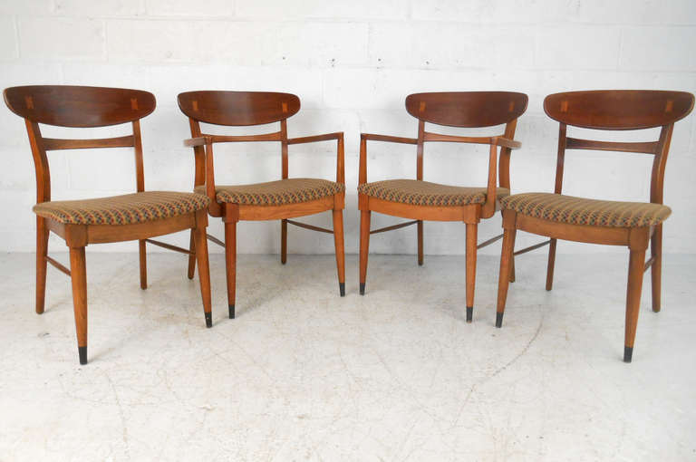 set of lane dining chairs by andre bus at 1stdibs