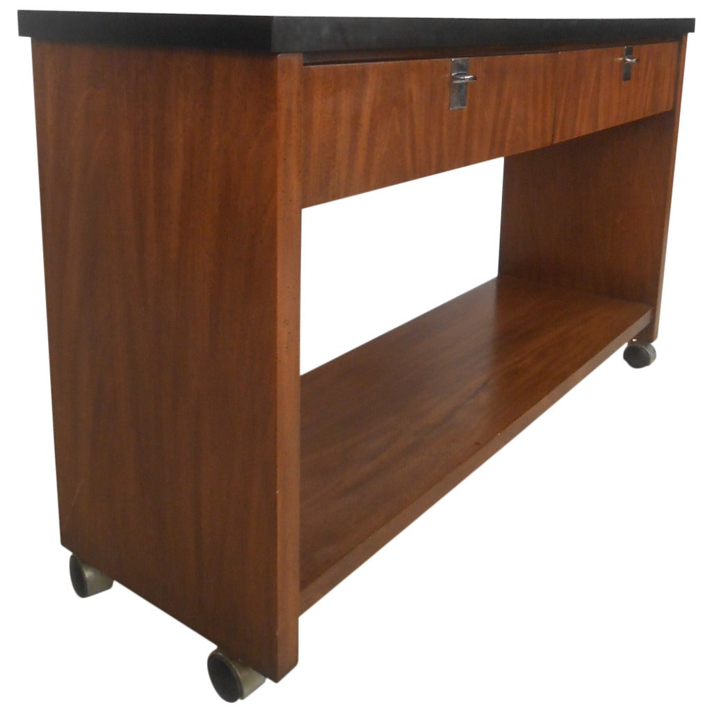 Mid century modern serving console by jb van sciver for sale