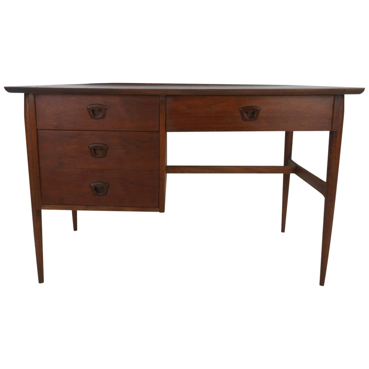 Stylish Vintage Modern Desk by Bassett For Sale