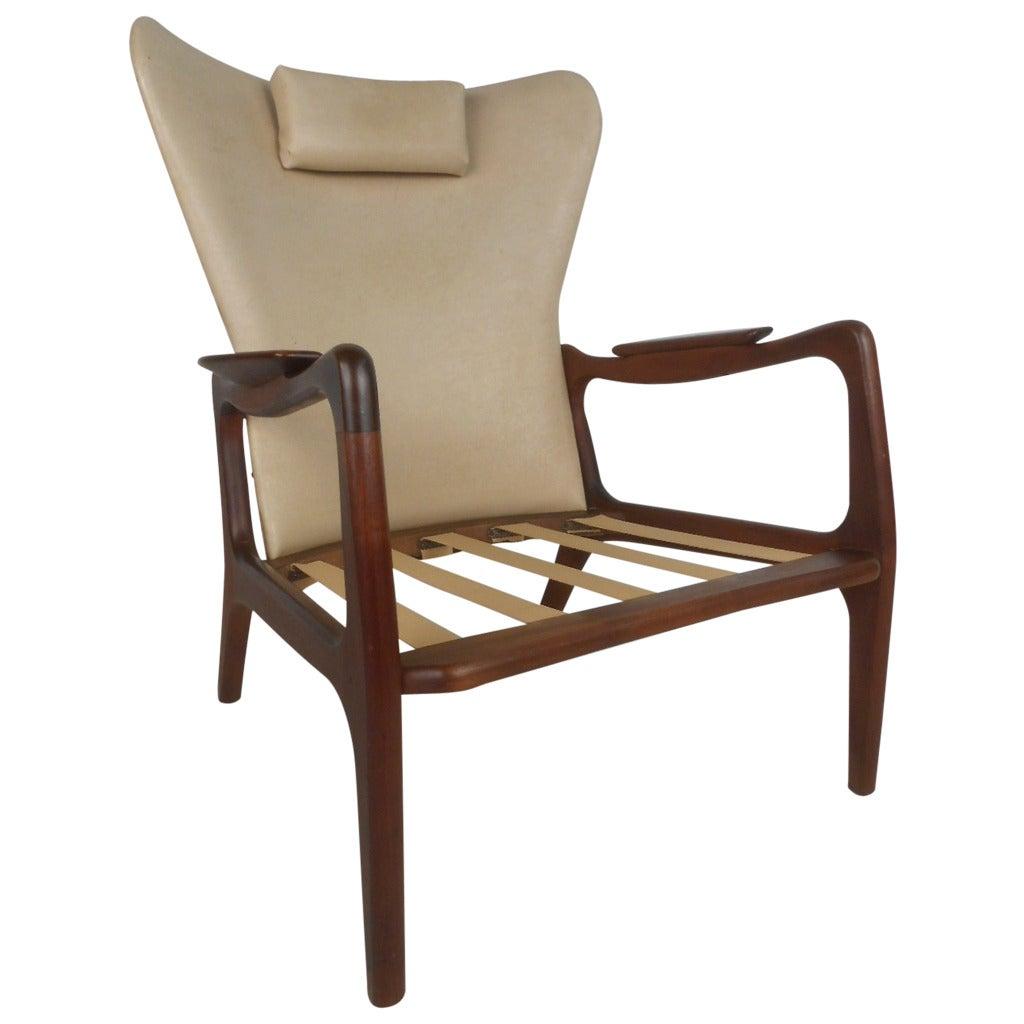 Mid-Century Modern Adrian Pearsall Wingback Armchair