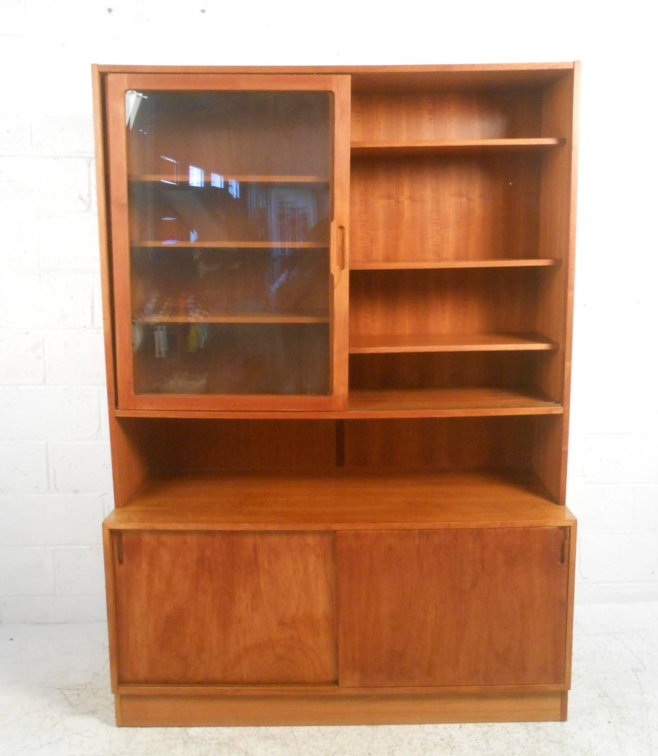 Mid century modern danish teak curio cabinet for sale at for Modern teak kitchen cabinets