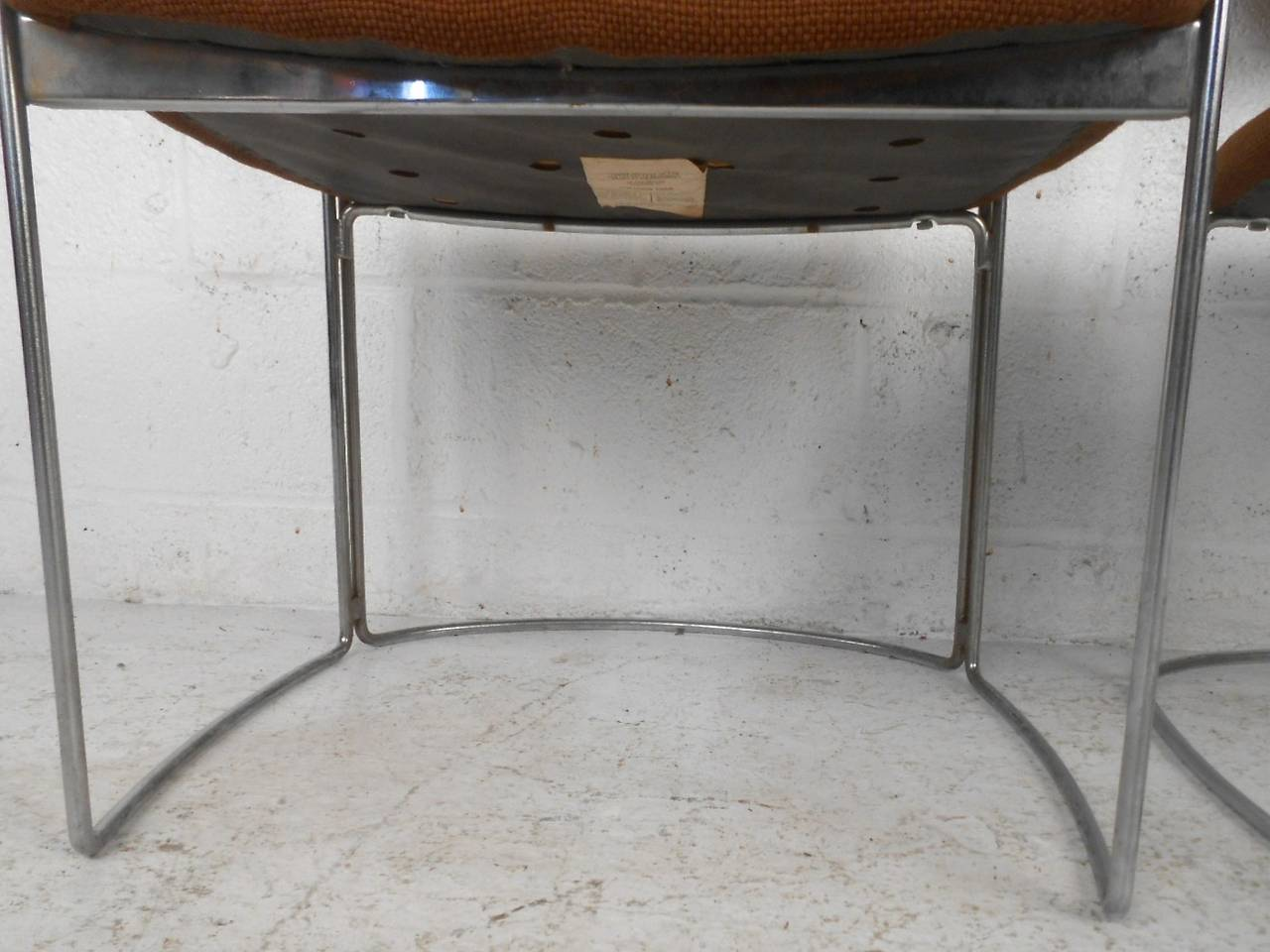 Set of Seven Vintage Modern Conference or Dining Chairs For Sale 4