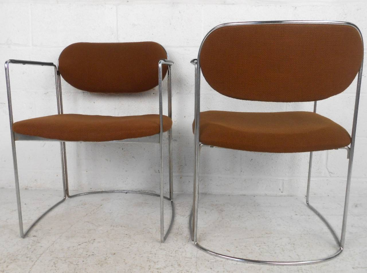 20th Century Set of Seven Vintage Modern Conference or Dining Chairs For Sale