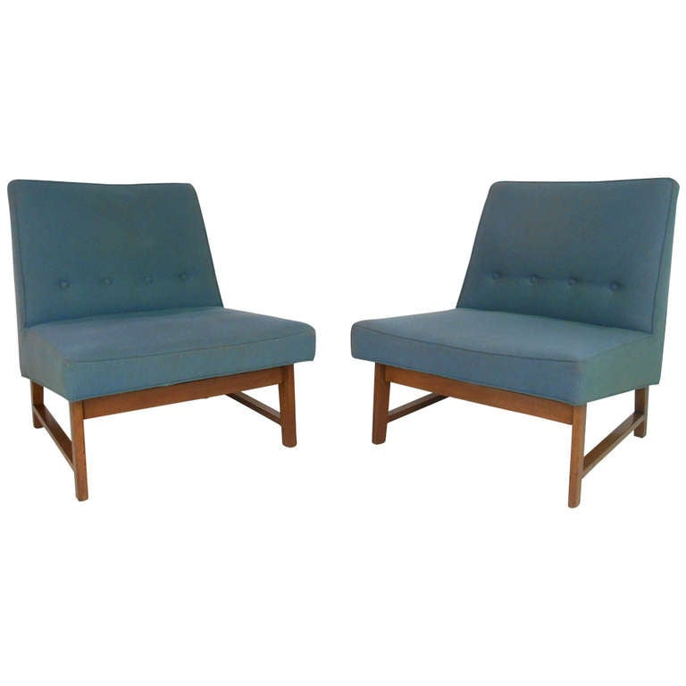 Dunbar Slipper Chairs by Roger Sprunger, Mid-Century Modern