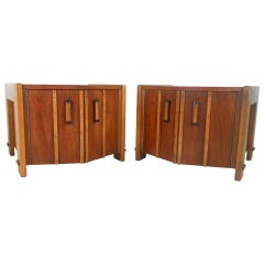 Pair of Mid-Century American Walnut End Tables