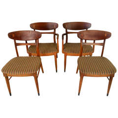 Set of Lane Dining Chairs by Andre Bus