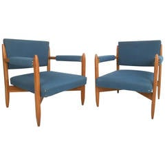 Pair of Vintage Modern Armchairs