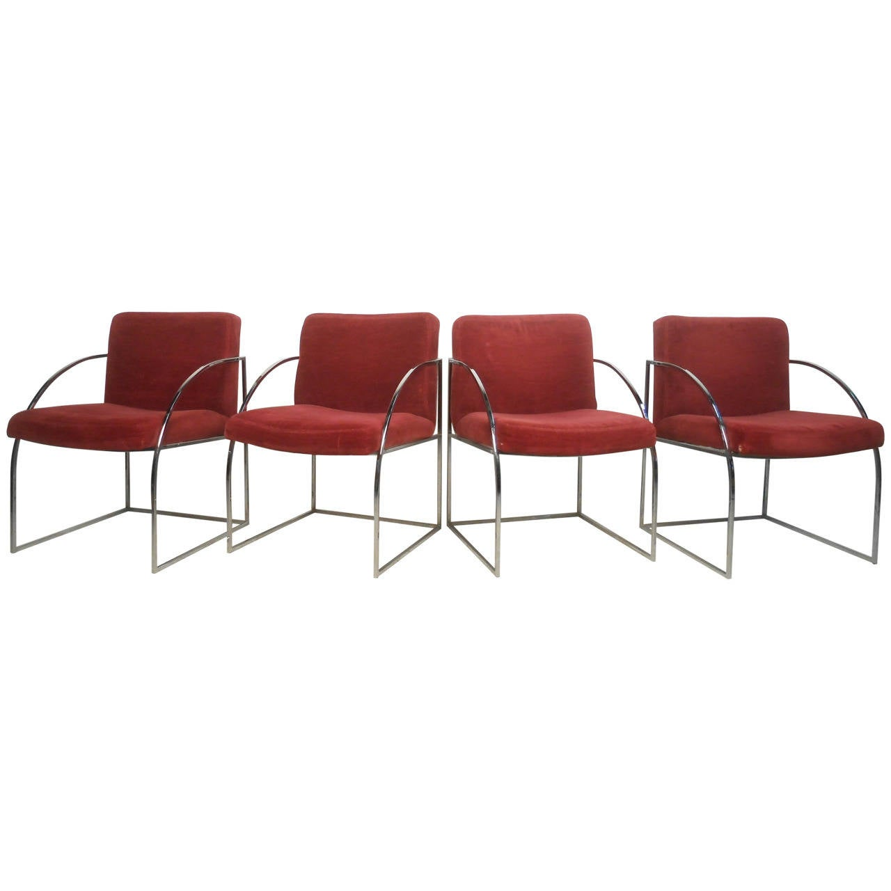 Set of Mid-Century Modern Milo Baughman for Thayer Coggin Dining Chairs