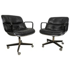Pair of Mid-Century Modern Knoll Executive Chairs