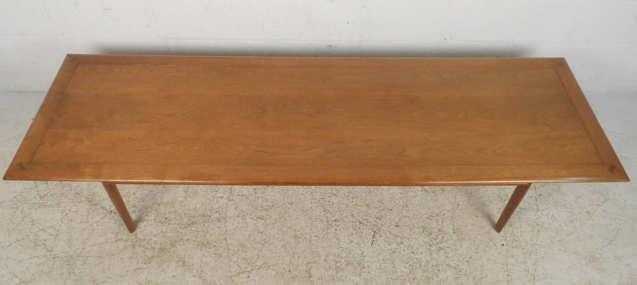 Long Vintage Modern Coffee Table From Drexel With Clean Lines And Elegant Design Striking Mid