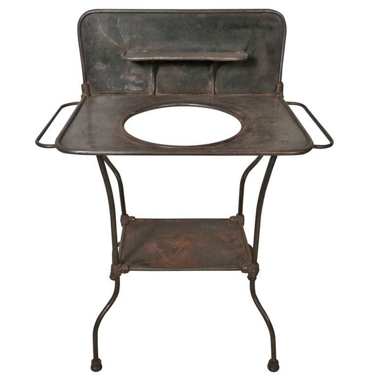 Antique Metal Wash Stand At 1stdibs